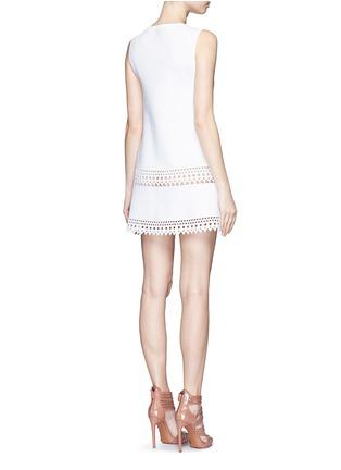 Back View - Click To Enlarge - Alaïa - 'Vienne' geometric cutout knit dress