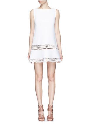 Main View - Click To Enlarge - Alaïa - 'Vienne' geometric cutout knit dress