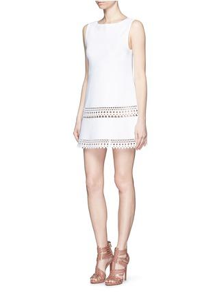 Figure View - Click To Enlarge - Alaïa - 'Vienne' geometric cutout knit dress