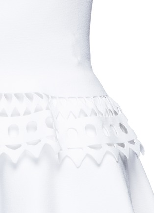 Detail View - Click To Enlarge - Alaïa - 'Vienne' geometric perforated knit top