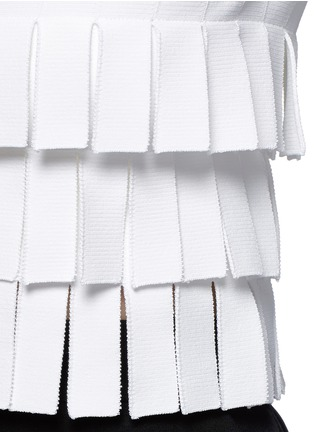 Detail View - Click To Enlarge - Alaïa - 'Perse' Grecian fringe knit top