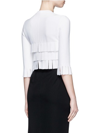 Back View - Click To Enlarge - Alaïa - 'Perse' Grecian fringe knit top