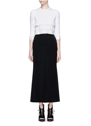 Figure View - Click To Enlarge - Alaïa - 'Perse' Grecian fringe knit top