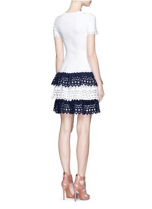 Back View - Click To Enlarge - Alaïa - 'Vienne' geometric cutout tiered knit dress