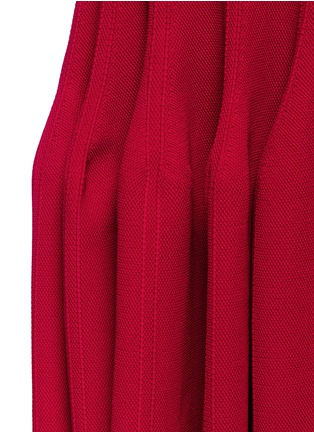 Detail View - Click To Enlarge - Alaïa - Piqué knit fishtail skirt