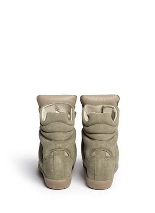 Back View - Click To Enlarge - Isabel Marant Étoile - 'Bekett' suede high top wedge sneakers