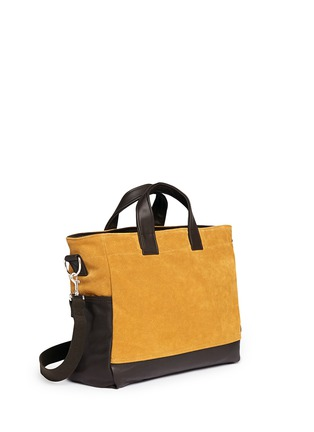 Front View - Click To Enlarge - Meilleur Ami Paris - 'Petit Ami' suede and leather tote bag