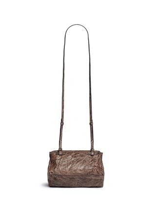 Back View - Click To Enlarge - Givenchy - 'Pandora' mini pepe sheepskin leather bag