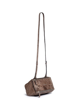 Front View - Click To Enlarge - Givenchy - 'Pandora' mini pepe sheepskin leather bag