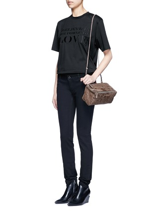 Figure View - Click To Enlarge - Givenchy - 'Pandora' mini pepe sheepskin leather bag