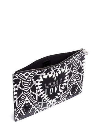 Detail View - Click To Enlarge - Givenchy - 'Power of Love' large slogan print zip pouch