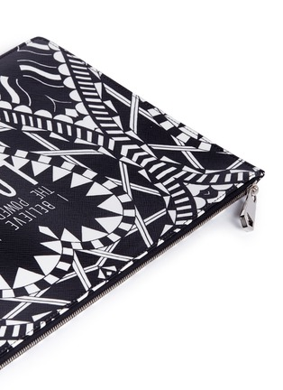 - Givenchy - 'Power of Love' large slogan print zip pouch