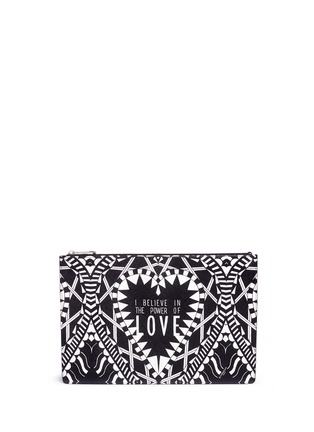 Main View - Click To Enlarge - Givenchy - 'Power of Love' large slogan print zip pouch