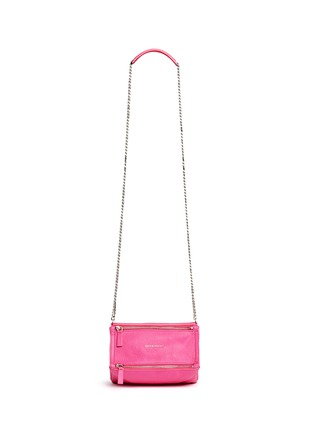 Main View - Click To Enlarge - Givenchy - 'Pandora' mini chain goat leather bag