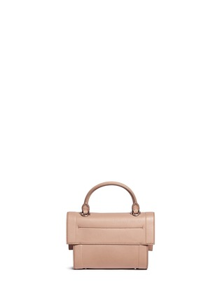 Back View - Click To Enlarge - Givenchy - 'Shark' mini leather shoulder bag