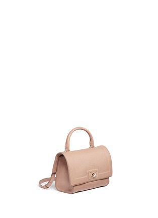 Front View - Click To Enlarge - Givenchy - 'Shark' mini leather shoulder bag
