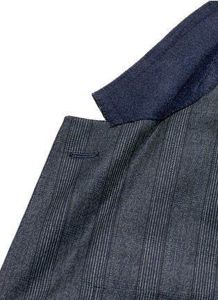 - LANVIN - 'Attitude' speckled check wool suit