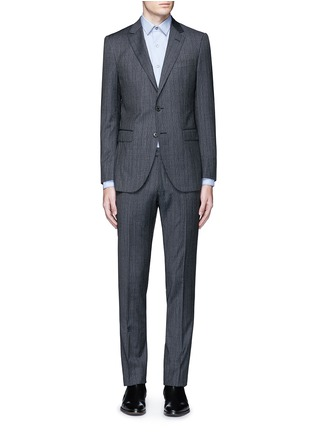 Main View - Click To Enlarge - LANVIN - 'Attitude' speckled check wool suit