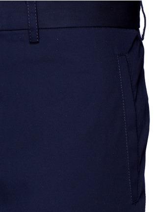 Detail View - Click To Enlarge - Lanvin - Slim fit cotton gabardine biker pants