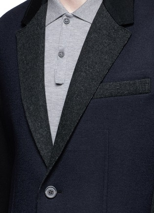 Detail View - Click To Enlarge - Lanvin - Deconstructed colourblock jersey soft blazer