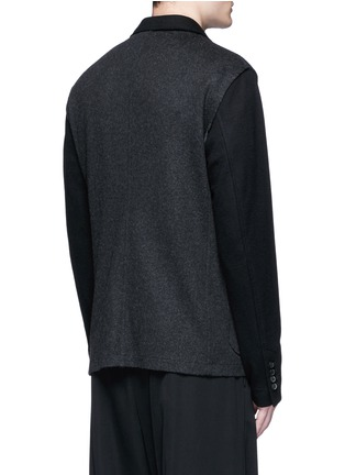 Back View - Click To Enlarge - Lanvin - Deconstructed colourblock jersey soft blazer