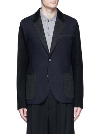 Main View - Click To Enlarge - Lanvin - Deconstructed colourblock jersey soft blazer