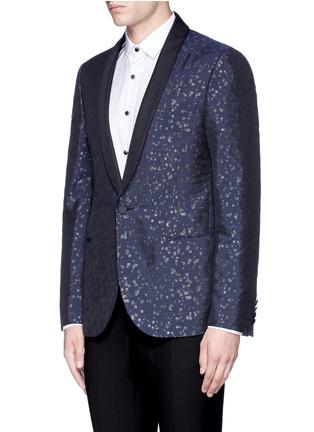Front View - Click To Enlarge - LANVIN - Slim fit metallic jacquard tuxedo blazer