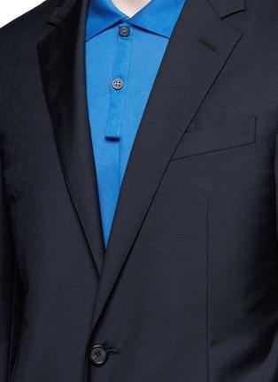 Detail View - Click To Enlarge - Lanvin - Slim fit collar trim wool blazer