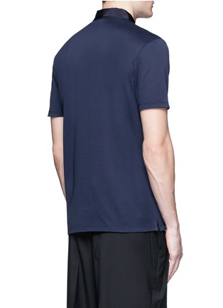 Back View - Click To Enlarge - LANVIN - Slim fit grosgrain collar polo shirt