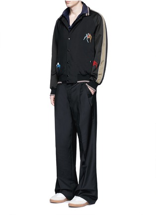 Figure View - Click To Enlarge - LANVIN - Slim fit grosgrain collar polo shirt