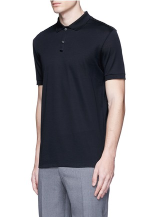 Front View - Click To Enlarge - Lanvin - Slim fit ribbon shoulder polo shirt