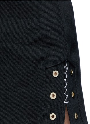 Detail View - Click To Enlarge - ELLERY - 'Reinking' grommet cotton drill hot pants