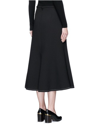 Back View - Click To Enlarge - Ellery - 'Beedee' cady flute skirt