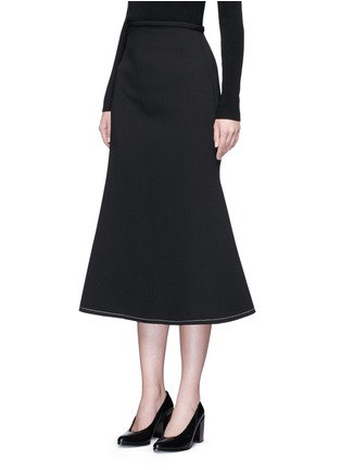 Front View - Click To Enlarge - Ellery - 'Beedee' cady flute skirt