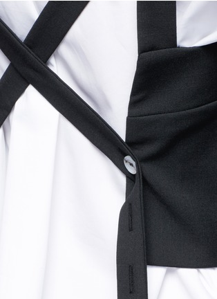 Detail View - Click To Enlarge - Ellery - 'Frenetic' crisscross back cropped top