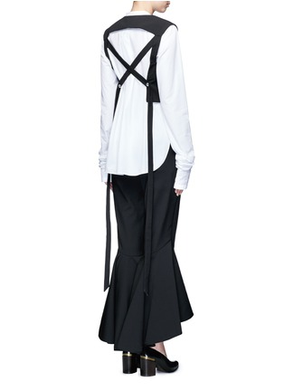 Figure View - Click To Enlarge - Ellery - 'Frenetic' crisscross back cropped top