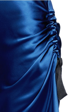 Detail View - Click To Enlarge - Ellery - 'Charlemagne' ruched silk skirt