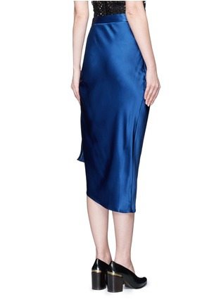 Back View - Click To Enlarge - ELLERY - 'Charlemagne' ruched silk skirt
