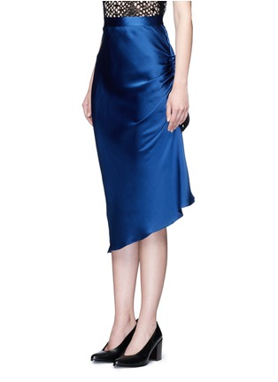 Front View - Click To Enlarge - Ellery - 'Charlemagne' ruched silk skirt