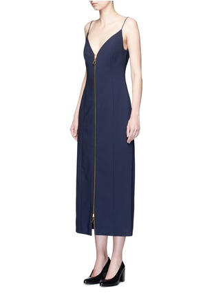 Front View - Click To Enlarge - Ellery - 'Barton' zip front camisole dress