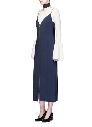Figure View - Click To Enlarge - Ellery - 'Barton' zip front camisole dress