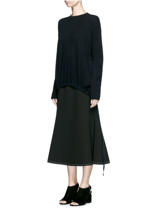 Front View - Click To Enlarge - Ellery - 'Smitten' ribbon drawstring cashmere sweater