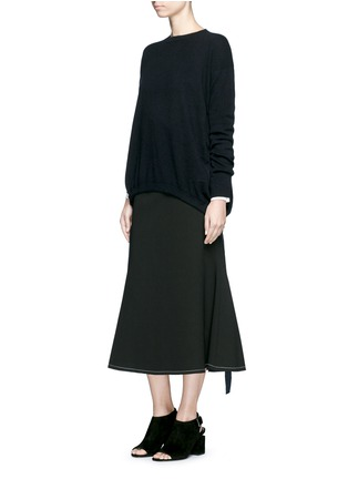 Figure View - Click To Enlarge - Ellery - 'Smitten' ribbon drawstring cashmere sweater