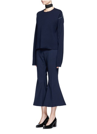 Figure View - Click To Enlarge - Ellery - 'Federico' cropped flared pants