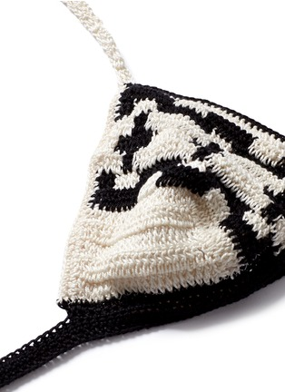 Detail View - Click To Enlarge - Anna Kosturova - 'Mirage' ethnic crochet triangle bikini set