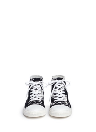 Front View - Click To Enlarge - Pierre Hardy - 'Frisco' camocube print high top sneakers