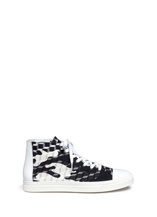 Main View - Click To Enlarge - Pierre Hardy - 'Frisco' camocube print high top sneakers