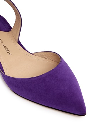 Detail View - Click To Enlarge - Paul Andrew - 'Rhea 15' suede slingback flats