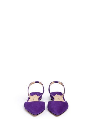 Front View - Click To Enlarge - Paul Andrew - 'Rhea 15' suede slingback flats