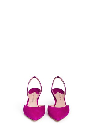 Front View - Click To Enlarge - Paul Andrew - 'Rhea' suede slingback pumps